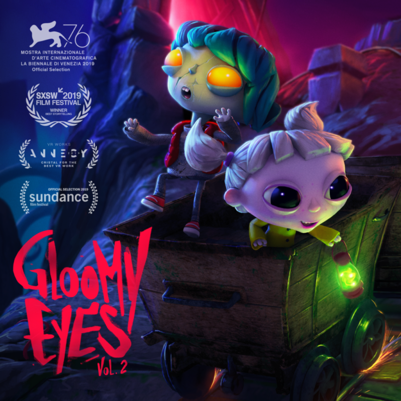 VR animation gloomy eyes